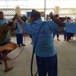 Dec 23rd Eden Centre hula hoop game