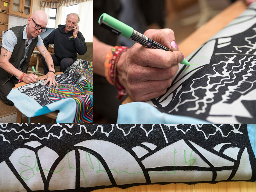stanley-donwood signs giant wristband