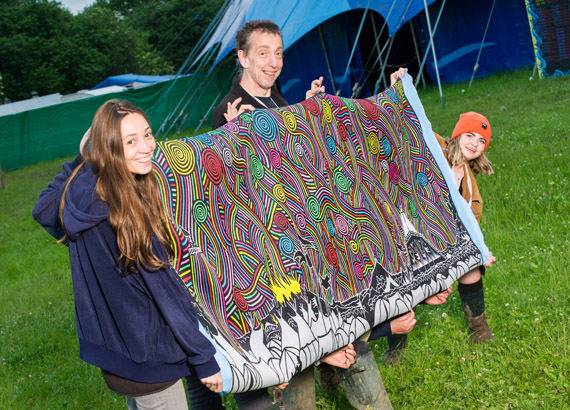 Stanley Donwood's tapestry being sold at auction for fundraising