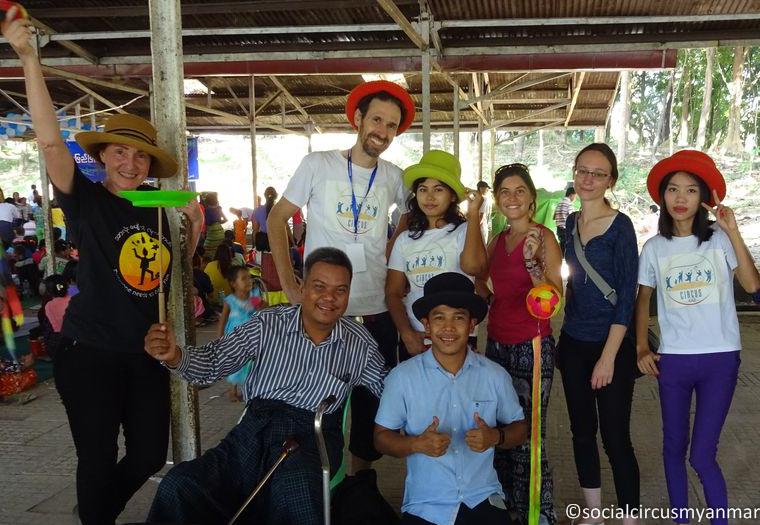 Social Circus Myanmar 2016-17 Pho Ke at IDD