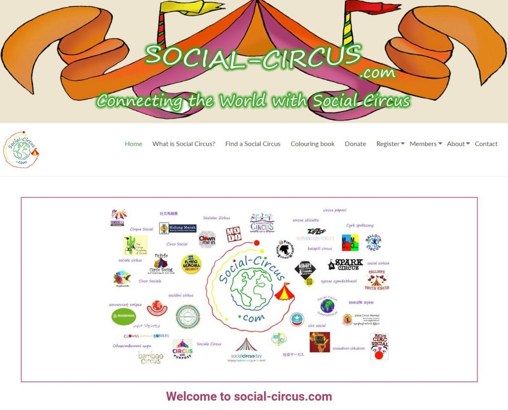 social-circus com webpage