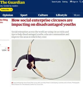 The Guardian social enterprise circus