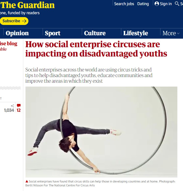 The Guardian social enterprise circus