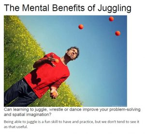 the mental benefits of juggling
